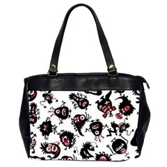 Goofy Monsters Pattern  Office Handbags (2 Sides)