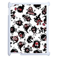 Goofy Monsters Pattern  Apple Ipad 2 Case (white)