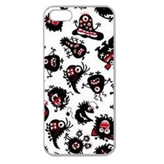 Goofy Monsters Pattern  Apple Seamless Iphone 5 Case (clear)