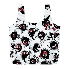 Goofy Monsters Pattern  Full Print Recycle Bags (l)