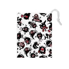 Goofy Monsters Pattern  Drawstring Pouches (medium)