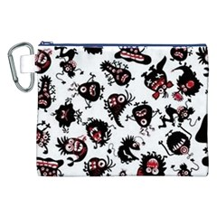 Goofy Monsters Pattern  Canvas Cosmetic Bag (xxl)