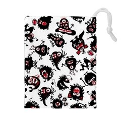 Goofy Monsters Pattern  Drawstring Pouches (extra Large)