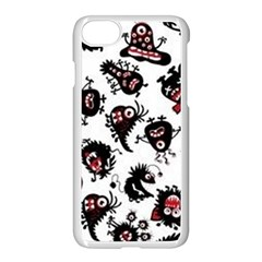Goofy Monsters Pattern  Apple Iphone 7 Seamless Case (white)