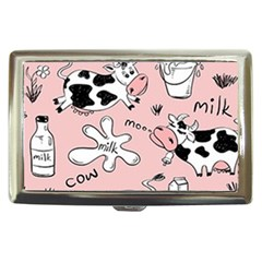 Fresh Milk Cow Pattern Cigarette Money Cases