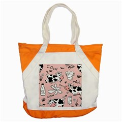 Fresh Milk Cow Pattern Accent Tote Bag