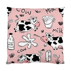 Fresh Milk Cow Pattern Standard Cushion Case (two Sides)