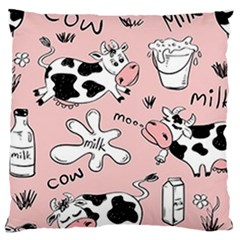 Fresh Milk Cow Pattern Large Cushion Case (one Side)