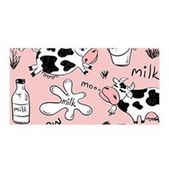 Fresh Milk Cow Pattern Satin Wrap