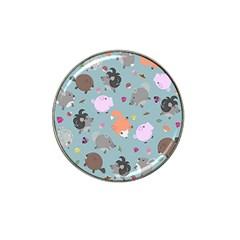 Little Round Animal Friends Hat Clip Ball Marker