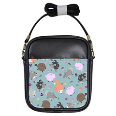 Little Round Animal Friends Girls Sling Bags