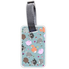 Little Round Animal Friends Luggage Tags (one Side)