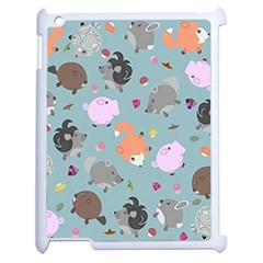 Little Round Animal Friends Apple Ipad 2 Case (white)