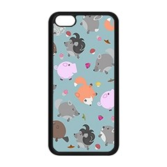 Little Round Animal Friends Apple Iphone 5c Seamless Case (black)