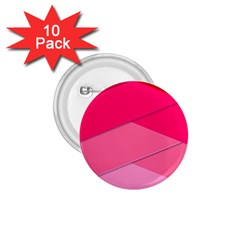 Geometric Shapes Magenta Pink Rose 1 75  Buttons (10 Pack)
