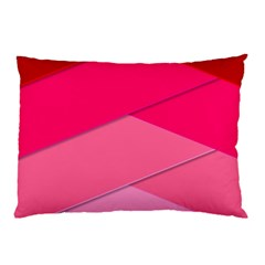 Geometric Shapes Magenta Pink Rose Pillow Case