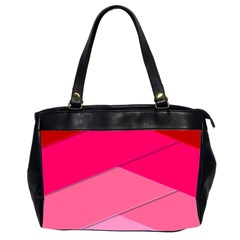 Geometric Shapes Magenta Pink Rose Office Handbags (2 Sides)