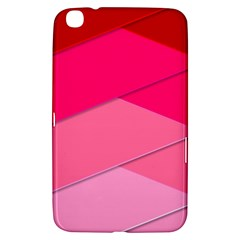 Geometric Shapes Magenta Pink Rose Samsung Galaxy Tab 3 (8 ) T3100 Hardshell Case