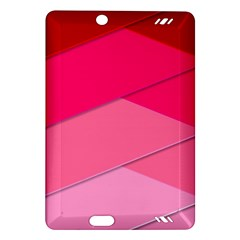 Geometric Shapes Magenta Pink Rose Amazon Kindle Fire Hd (2013) Hardshell Case
