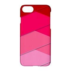 Geometric Shapes Magenta Pink Rose Apple Iphone 8 Hardshell Case