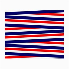 Red White Blue Patriotic Ribbons Small Glasses Cloth