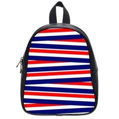 Red White Blue Patriotic Ribbons School Bag (small)