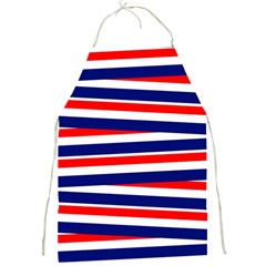 Red White Blue Patriotic Ribbons Full Print Aprons