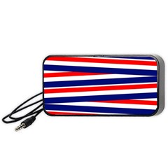Red White Blue Patriotic Ribbons Portable Speaker