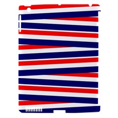 Red White Blue Patriotic Ribbons Apple Ipad 3/4 Hardshell Case (compatible With Smart Cover)