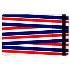 Red White Blue Patriotic Ribbons Apple Ipad 2 Flip Case