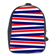 Red White Blue Patriotic Ribbons School Bag (xl)