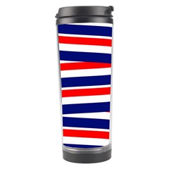 Red White Blue Patriotic Ribbons Travel Tumbler