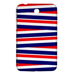 Red White Blue Patriotic Ribbons Samsung Galaxy Tab 3 (7 ) P3200 Hardshell Case