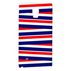 Red White Blue Patriotic Ribbons Galaxy Note 4 Back Case