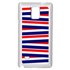 Red White Blue Patriotic Ribbons Samsung Galaxy Note 4 Case (white)