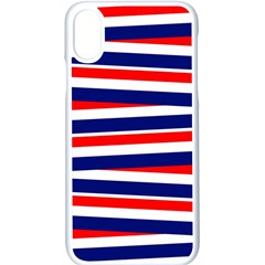 Red White Blue Patriotic Ribbons Apple Iphone X Seamless Case (white)