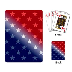 America Patriotic Red White Blue Playing Card