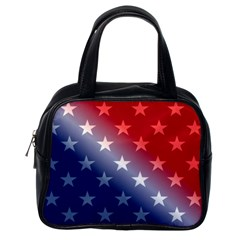 America Patriotic Red White Blue Classic Handbags (one Side)