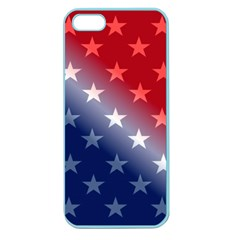 America Patriotic Red White Blue Apple Seamless Iphone 5 Case (color)