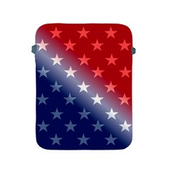 America Patriotic Red White Blue Apple Ipad 2/3/4 Protective Soft Cases