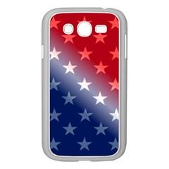 America Patriotic Red White Blue Samsung Galaxy Grand Duos I9082 Case (white)