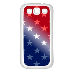 America Patriotic Red White Blue Samsung Galaxy S3 Back Case (white)