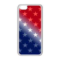 America Patriotic Red White Blue Apple Iphone 5c Seamless Case (white)