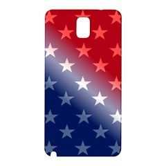 America Patriotic Red White Blue Samsung Galaxy Note 3 N9005 Hardshell Back Case