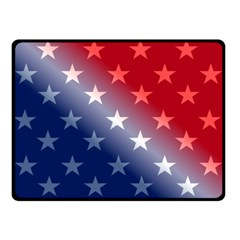 America Patriotic Red White Blue Double Sided Fleece Blanket (small)