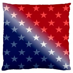 America Patriotic Red White Blue Large Flano Cushion Case (one Side)