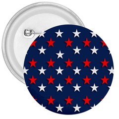 Patriotic Colors America Usa Red 3  Buttons