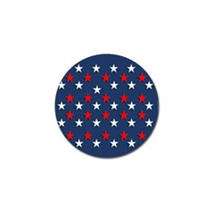 Patriotic Colors America Usa Red Golf Ball Marker (4 Pack)