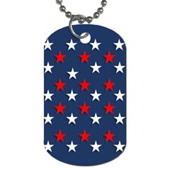 Patriotic Colors America Usa Red Dog Tag (two Sides)