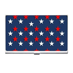 Patriotic Colors America Usa Red Business Card Holders